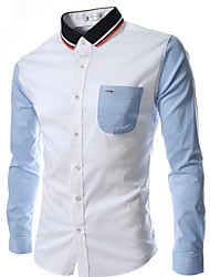 Men's Fashion Long Sleeve Slim Shirt