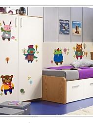 doudouwo® stickers muraux Stickers muraux, animaux hiver créative petits animaux muraux PVC autocollants