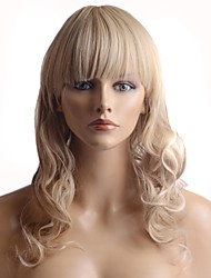 Capless Fashion Color Silky  Stylish Hair Long Wavy Synthetic Full Bang Wigs