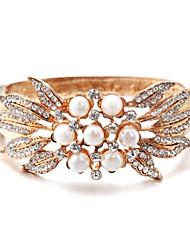 Goud/Parel Dames Cuff armband Armbanden Parel