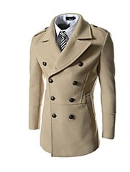 Wshgyy Men's Long Wool Coat