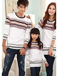 Family's Fashion And Joker Parents Children Bohemia Pattern Round Collar Sweater