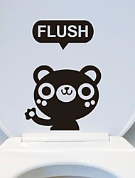Cartoon The little bear Toilet Sticker