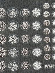 3d faux autocollants nail art décalques accessoire de clou de Noël flocon de neige d'argent pour obtenir des conseils à ongles ongles diy art