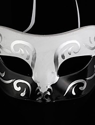 Mask Cosplay Festival/Holiday Halloween Costumes White / Black Print Mask Halloween Male PVC