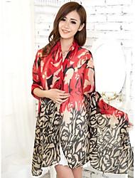femmes écharpes en voile rouge fil bali écharpe châles
