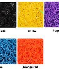 600pcs cor do arco-íris tear de alta elástico moda tear band (clipe 1package s, cores sortidas)