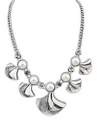 perlas de la vendimia del grano calla collar de la declaración de aleación de lirio de las mujeres