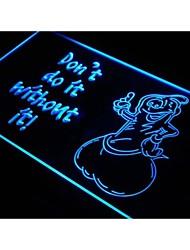 s112 préservatif ne font pas la boutique bar signe de néon