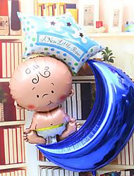 moon star set alumínio membrana bebê chuveiro balão bebê
