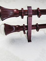 Aluminum Alloy Spray Redwood Plum Crystal Rome Rod Curtain Double Rod 04304-02