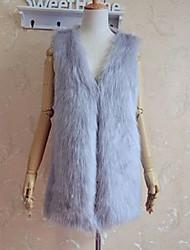 XT Mid Long Fur Waistcoat_24 (Khaki,Black,White,Gary)