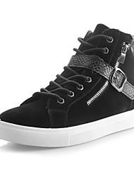 sapatos masculinos dedo do pé redondo tênis Moda salto baixo sapatos