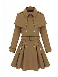 Slim Fit casaco de lã das mulheres de lavanda