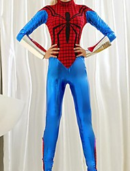 Spiderman Leotard Sky Blue and Red Adult Women's Halloween Costume
