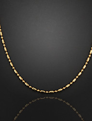 72 centímetros, 3mm, 18k banhado a ouro de bambu cadeia Figaro alta qualidade cadeia de bambu colar dos homens, desvanece-se pouco à vontade