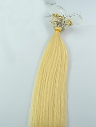 28inch 100Pcs 100% Indian Human Remy Hair Micro Ring Hair Extension Loop Hair Platinum Blonde