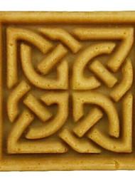 quadratische Fondantkuchen Schokolade Harz Ton Süßigkeiten Silikonform, l7cm * w7cm * h3.3cm