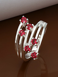 Fashion Gemstone Contrast Color Ring