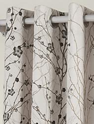 (dois painéis) ramos contemporânea cortina de poupança de energia