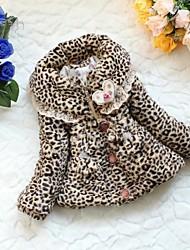 outono ou inverno leopardo faux casacos de pele da menina