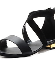 Women's Shoes BC Open Toe Low Heel Sandals with Zipper Shoes