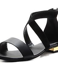 sapatos femininos bc dedo aberto sandálias de salto baixo com sapatos zipper