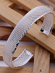 Fashion 6cm Women's Silver Plated Brass Bangle(1pc)