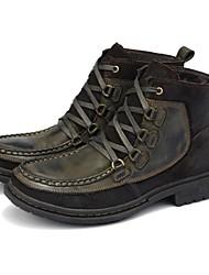 Шерсть теленка - Мужская обувь ( Зеленый )