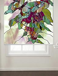 papillon de style abstrait avec des fleurs toile à rouleau
