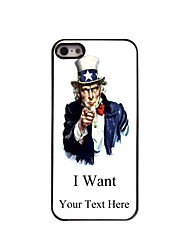 presente personalizado eu quero projetar caixa de metal para iPhone 5 / 5s