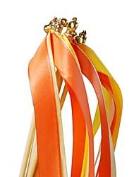 10 pcs varinhas fita do casamento com flâmulas sinos partido