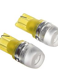 t10 1.5W amarelo levaram luzes de instrumentos do carro (12V, 2pcs)