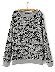 Women's Tops & Blouses , Cotton Blend Casual Long Sleeve YIYONG