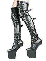 zapatos de las mujeres de la plataforma novedad atractiva sobre las botas de la rodilla más colores disponibles