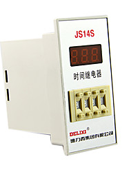 Time Relay Panel Mount AC 220V 0.01S-999h Programmable Timer 11 Pin DELIXI ELECTRIC JS14S