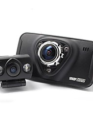 2.7 Inch Dual-camera Full HD 1080P Car DVR 170° Wide Angle View  Night Vision