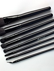 8pcs Professional Black Make Up Brushes Set Tool