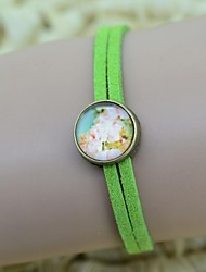 Women's Galaxy Floral Pattern Series Time Gem Bracelet
