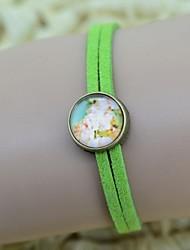 galaxie floral temps de série de modèle de bracelet perle des femmes