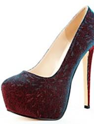 Pompes de cuir verni plate-forme de chaussures stiletto talon des femmes bureau / chaussures de soirée