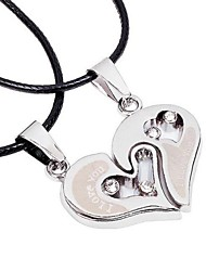 Unisex's Mutual Affinity Set Auger Alloy Necklace (Set of a Pair)