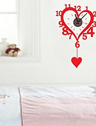 ZOOYOO® DIY Electronic battery music timekeeper DIY heart shape wall sticker home decor for you living room