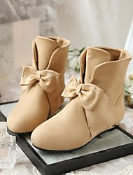 Women's Shoes Round Toe Flat Heel Ankle Boots with Bowknot More Colors available