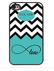 Personalized Gift Sea Wave and Love Design Metal Case for iPhone 4/4S