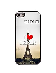 Personalized Case I Love Paris Eiffel Tower Design Metal Case for iPhone 5/5S
