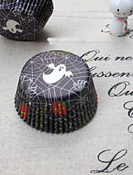 Holloween Ghost Pattern Cupcake Wrappers-Set of 50