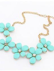 Sally Women's Fashion Fresh Sweet Gem Necklace Chain Jewelry