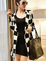 traje a cuadros blanco y negro de las mujeres de cultivan su moralidad prendas de vestir exteriores