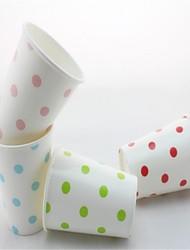 venda quente polka dot eco-friendly copos de papel copos de café copos de água para a festa (12 pcs)